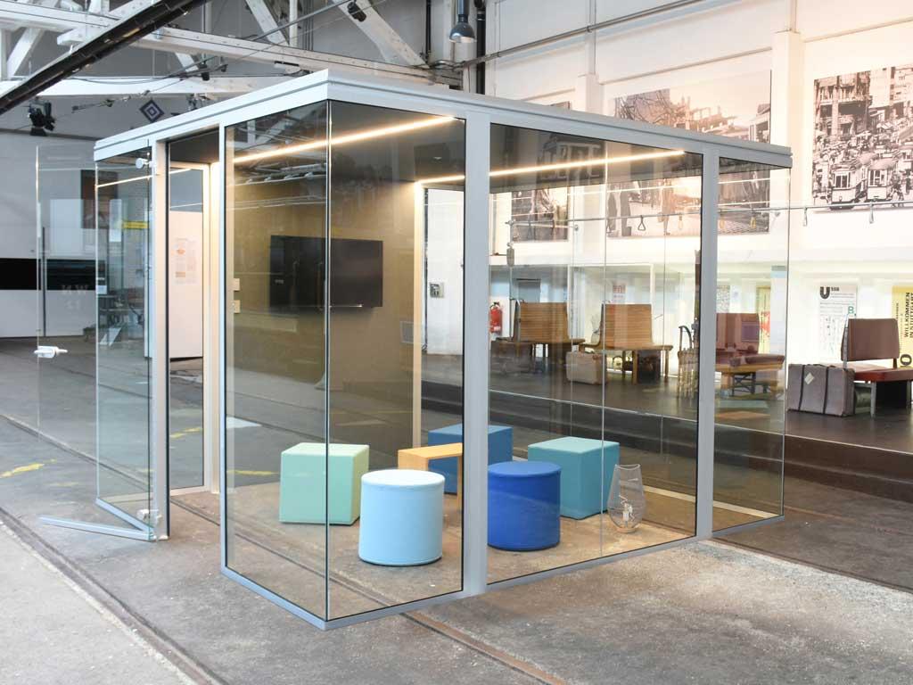 AOS Raum in Raum Cube Line Kreativfläche