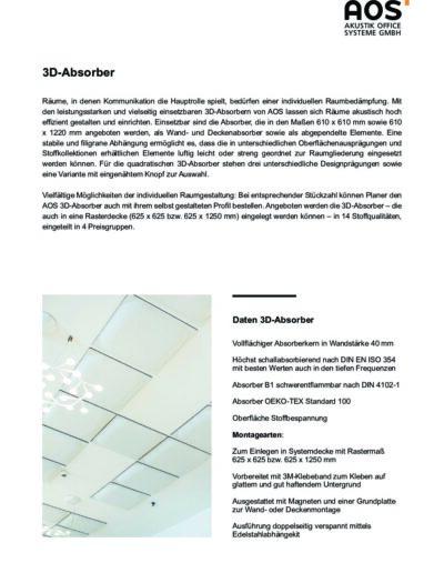 Datenblatt 3D-Absorber