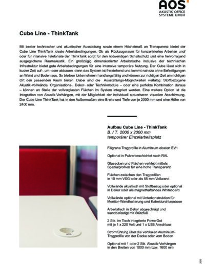 Datenblatt Cube Line ThinkTank