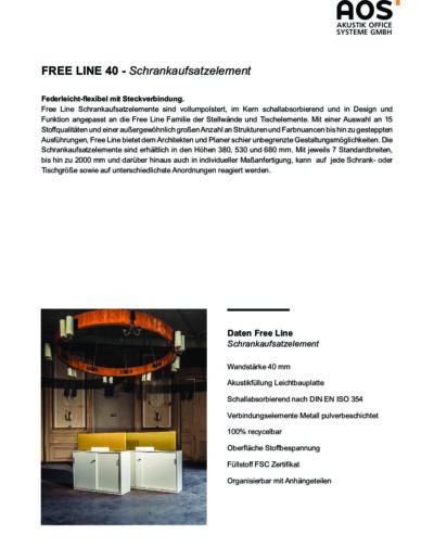 Datenblatt Free Line Schrankaufsatz