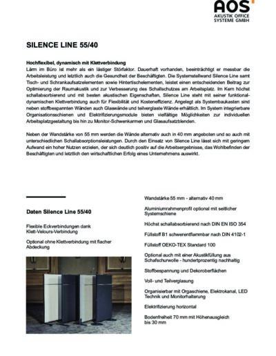 Datenblatt Silence Line