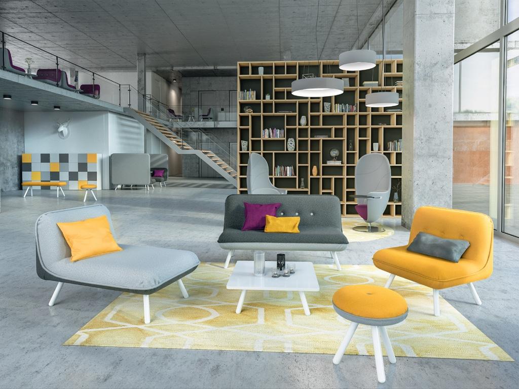 König + Neurath NET WORK PLACE Organic Wartebereich Möbel Loungemöbel