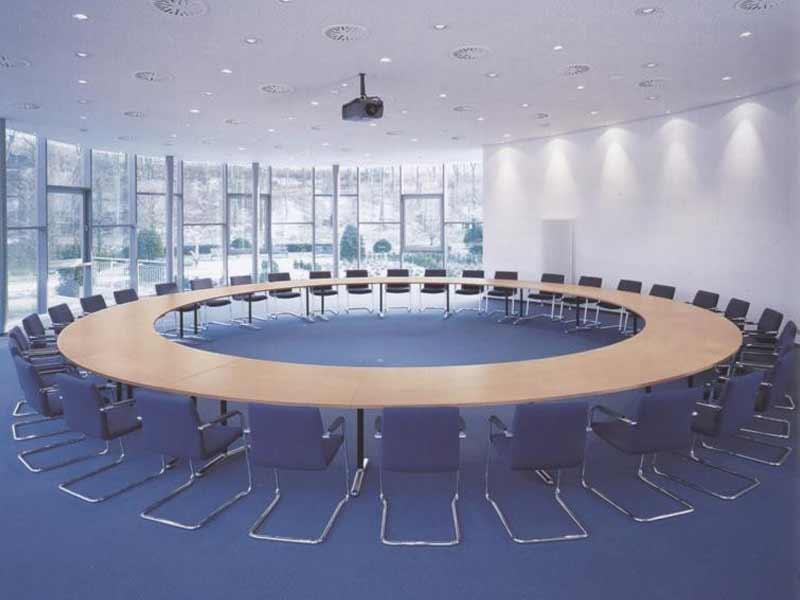 Konferenzmöbel spiegels Rundtisch innen offen